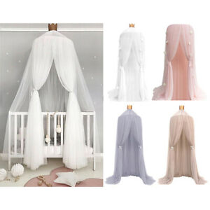 Kids-Round-Lace-Curtain-Dome-Bed-Canopy-Netting-Princess-Mosquito-Net-Curtain