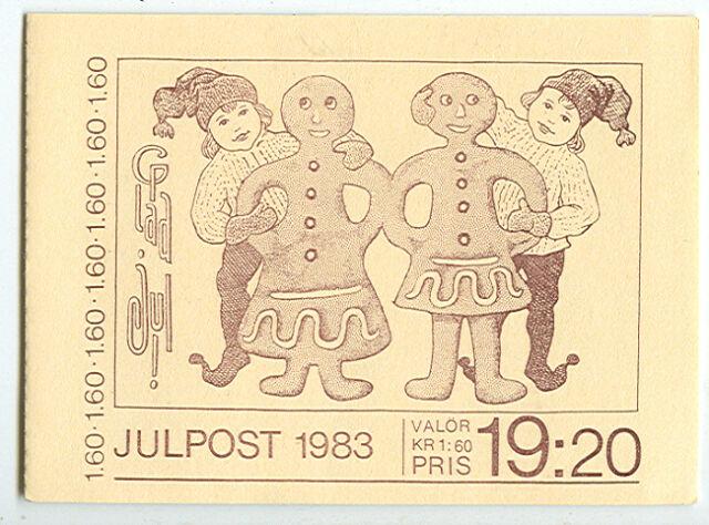 SWEDEN (H347) Scott 1477a, 1.60kr Old Christmas Cards