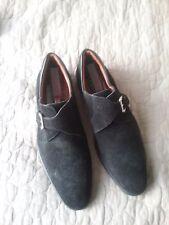 a.testoni black suede shoes