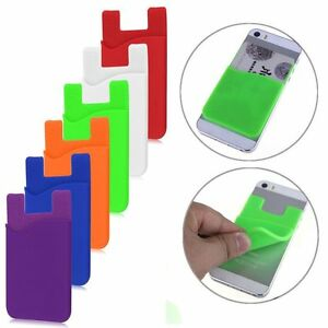 Silicone-Mobile-Phone-Wallet-Credit-Card-Cash-Stick-Adhesive-Holder-Case