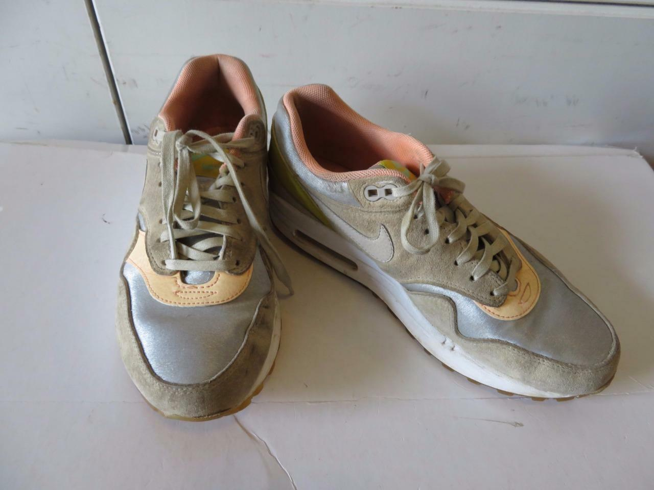 WOMENS NIKE AIR MAX APRICOT,GRAY LEATHER & MATERIAL SNEAKERS SIZE 7.5