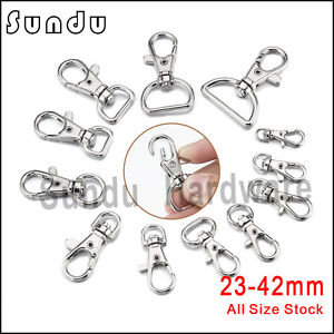 Wholesale-Metal-Swivel-Clasp-Various-Sizes-Lanyard-Snap-Hook-Lobster-Claw-Clasps