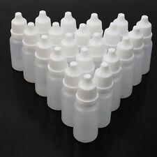 50 Mini Bottiglie Vuote 10ML per Collorio Olio Solvente Liquido Essenza Plastica