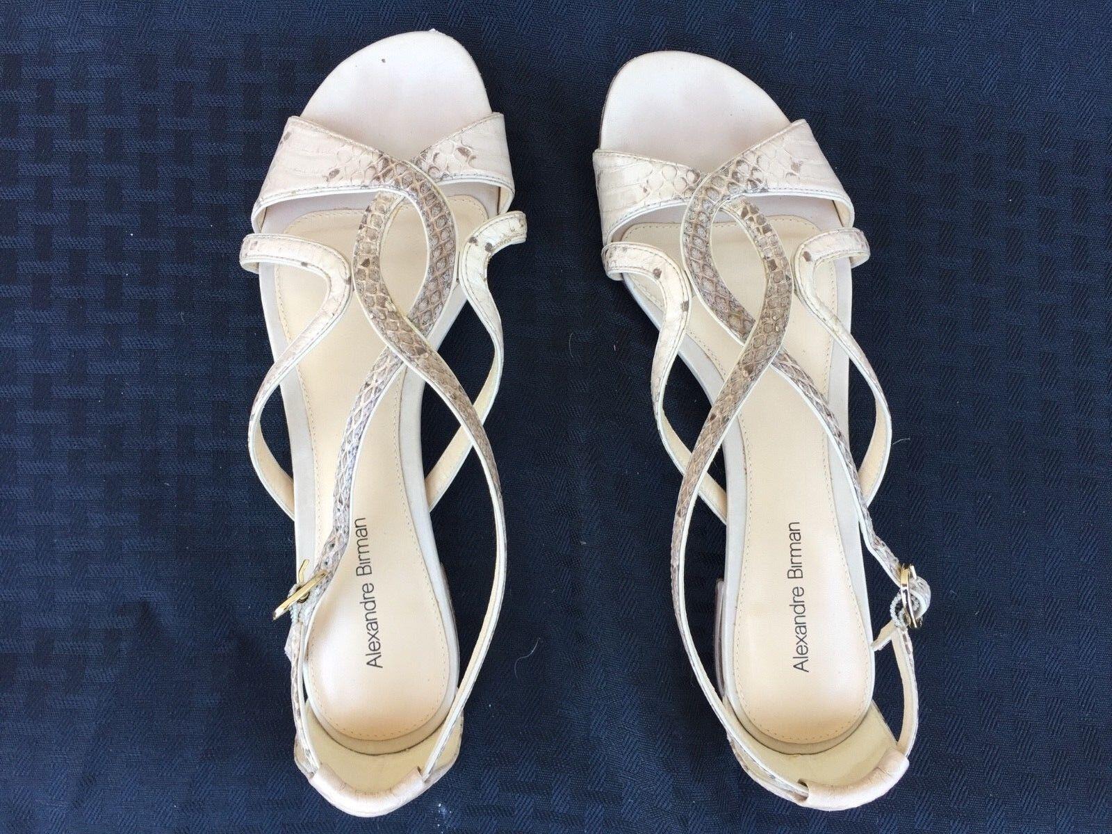 ALEXANDRE BIRMAN SNAKE BEIGE SANDALS FLATS Schuhe 595 7