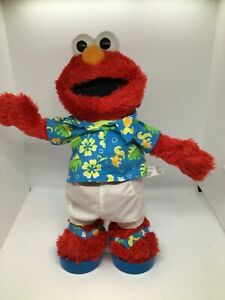 "2002 Fisher Price Limbo Elmo Singing Dancing Doll Mattel 13"""