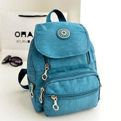 Women Nylon leisure Backpack Rucksack Mini School Satchel Hiking Bag Bookbag