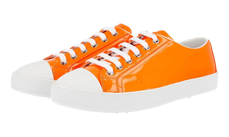 Auténtico de lujo Prada Tenis Zapatos 3E6202 Naranja Nuevo 37 37 37 37,5 Reino Unido 4  cómodamente