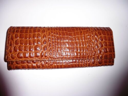 Vintage Vintage Croco En Croco Pochette En Pochette Pochette Croco Cuir Cuir Cuir En 47wPWgxqfX