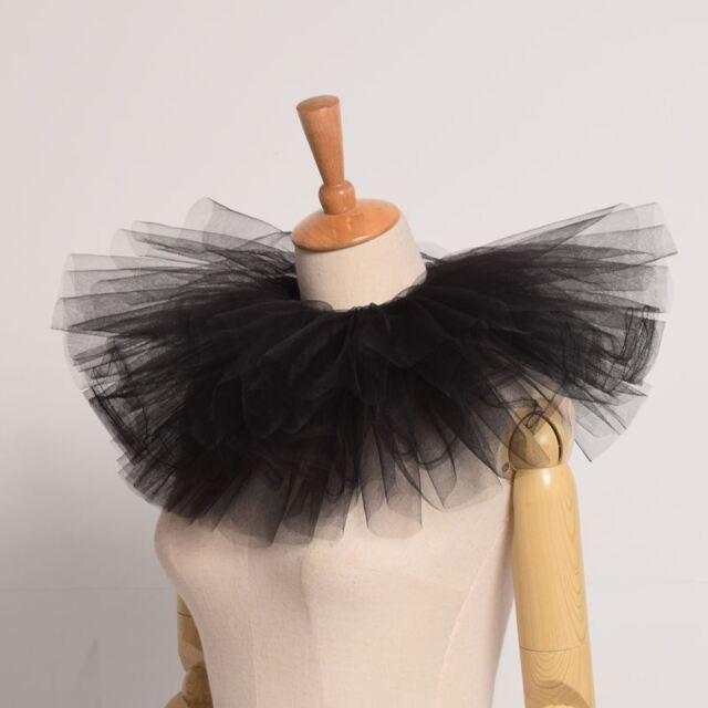 Medieval Lady Mesh Neck Collar Elizabeth Ruff Circus Collar Cosplay Props