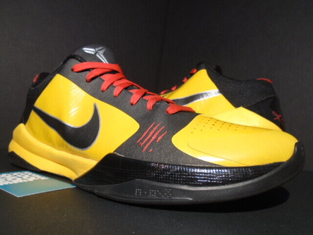 new products 1d114 e0bcb NIKE ZOOM KOBE V 5 BRUCE LEE BL DEL SOL YELLOW RED BLACK BIG STAGE  386429-701 14