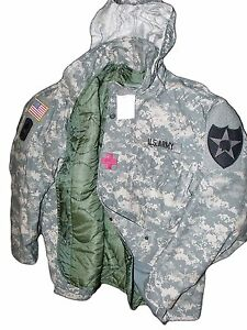 Made in USA ACU MILITARY FIELD JACKET ARMY DIGITAL CW COAT M65 NEW ... 8f0e7d44b196