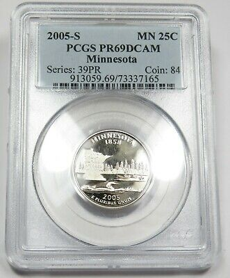 2003-S PCGS PR69 DCAM PROOF Clad Alabama Washington State Quarter US 25c 25201P