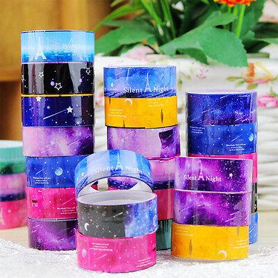 10pcs 1.5cm DIY paper Sticky Adhesive Sticker Washi Tape Decor Easy to Apply