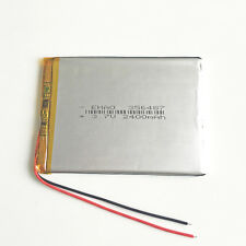 3.7V 2400mAh LiPo Polymer Recharge Battery For Mobile phone recorder GPS 356487