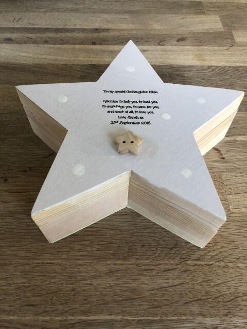 Shabby Chic Goddaughter Christening gift Trinket Keepsake box personalised