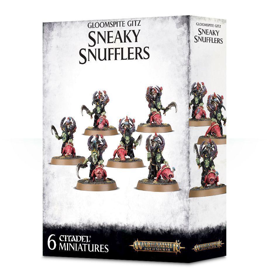Gloomspite Gitz Sneaky Snufflers with Snufflesquigs Games Workshop Aos Goblins