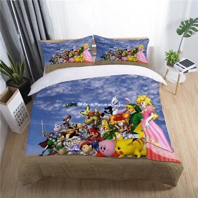 3d Kid Mario Bedding Set Super Smash, Super Mario Bros Full Size Bedding