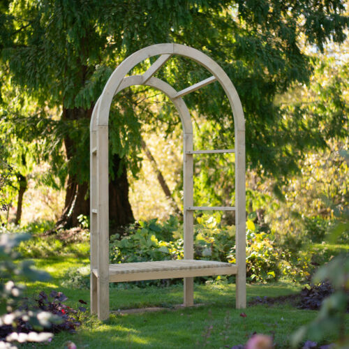 Forest 5/' x 2/' Infinity Garden Arbour Wooden Garden Decor Two Seat Structure NEW
