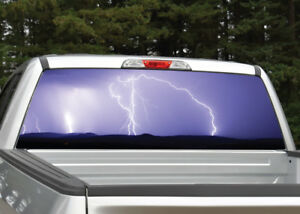 Truck Back Window Decals >> Details About Lightning Storm Purple Rear Window Decal Graphic For Truck Suv