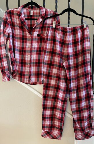 Victoria's Secret Red Flannel  Pajama Set XS