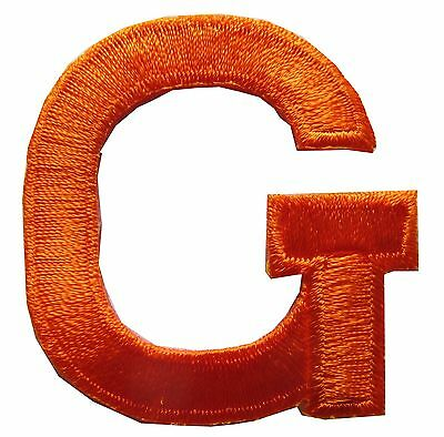 "Letter 1 3//4/"" Gold Metallic Letters Embroidery Iron On Applique Patch //1PC"