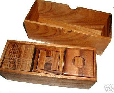 Puzzle-Pro V Ensemble Cadeau Bois Brain Teaser Puzzle  en bois  sortie d'exportation