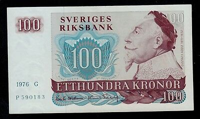 Sweden 1976 Fifty 50 Kronor Paper Banknote UNC Condition