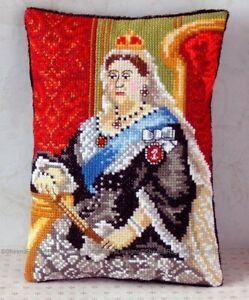 Sheena Rogers Designs La reina Isabel II Mini Cojín Kit Punto De Cruz