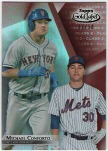 Details About 2018 Topps Gold Label Baseball Class 2 Red 50 66 Michael Conforto Mets