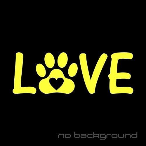 Love Paw Sticker Vinyl Decal Cat Dog Heart Print Pet Animal Car Window Bumper