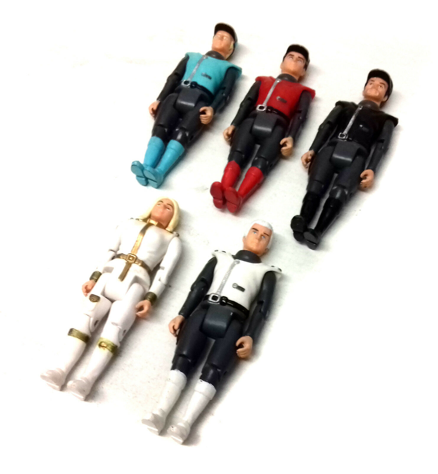 Gerry Anderson CAPTAIN SCARLET set of 3.75  toy figures 1990's series RARE