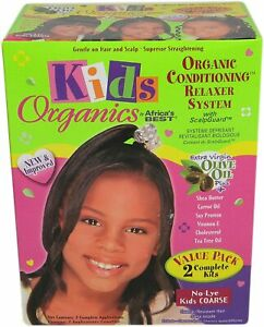 Africa's Best Kids Organic Relaxer Coarse Value Olive Oil Activator Pack of 2