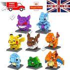 UK 8PC Pokemon Go Pikachu Pocket Building Blocks toy figures kids +8 Superheroes