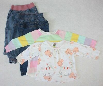 Molly & Jake H&m Nutmeg 5 Items Aromatic Flavor Girls Age 6-9 Months Bundle T-shirts & Jeans