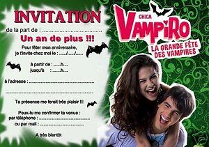 5 Ou 12 Cartes Invitation Anniversaire Chica Vampiro Ref 327 Ebay