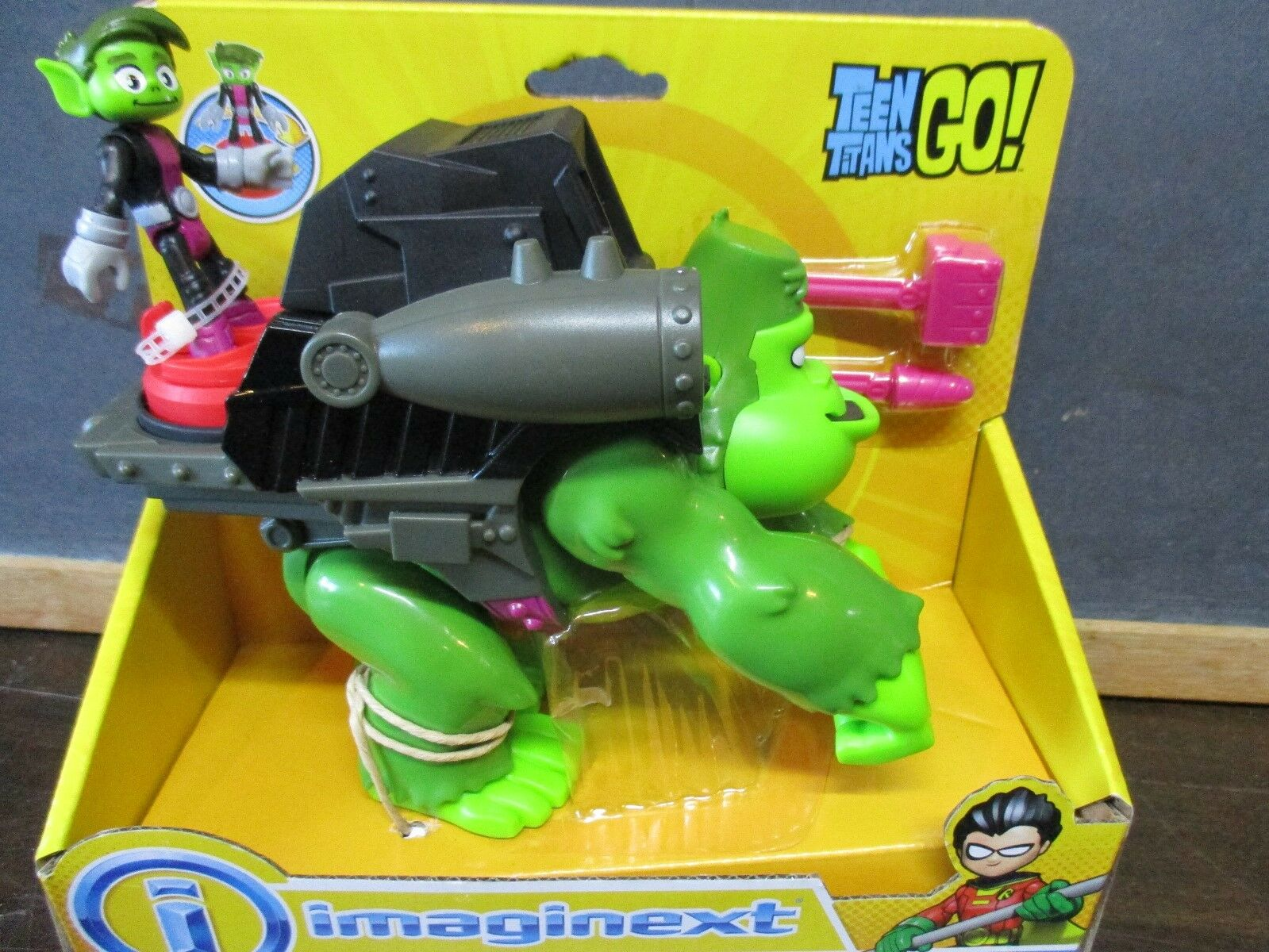 Fisher Price Imaginext New Teen Titans Go Beast Boy Boy Boy & Gorilla Green Turn Missile a47a37