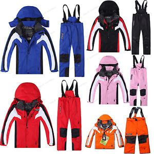 Kids' Winter Waterproof Outerwear Coat Pants Ski Suit Jacket Snowsuits Clothing