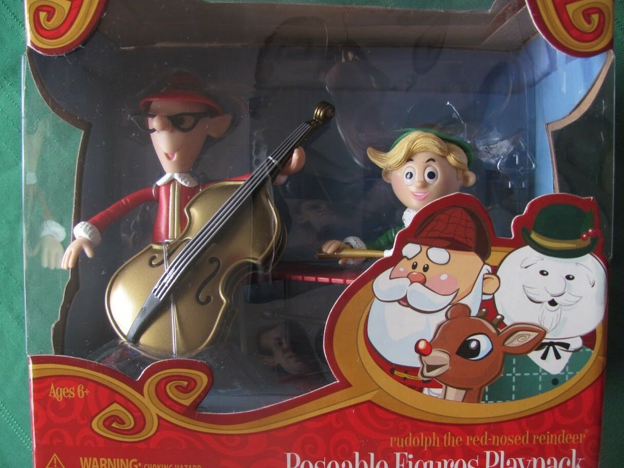 BASSIST TALL ELF & HERMEY Figures 2010 rudolph misfit Spielzeugs NEW