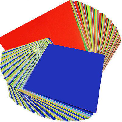 "300 Sheets Double Sided Colored Paper Assorted Colors Origami 15cm (5.9"") Square"