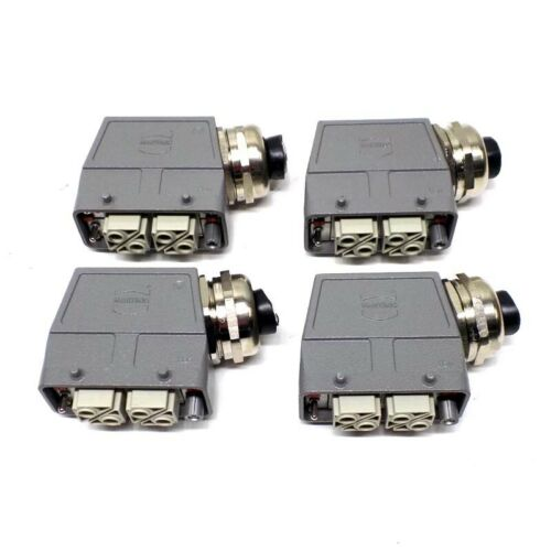 4 Harting Han Connector PC-GF 20 Female Connectors 20 Pin Side Entry Housing