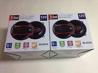 Dual Dls524 5-1/4 Car Speakers 120-watts (four Speakers)