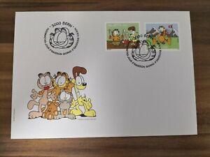 Schweiz-FDC-Garfield-der-freche-Kater-Garfield-the-cheeky-cat-2014