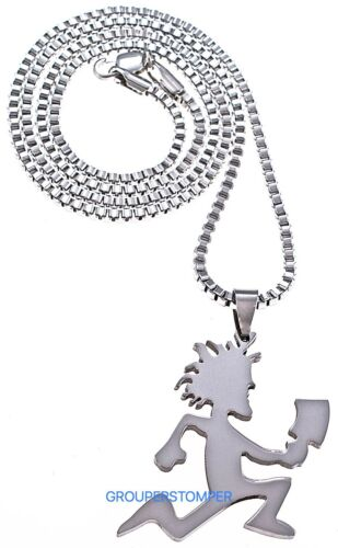 Juggalo Necklace Small New Pendant With Hatchet 24 Inch Box Style Chain Insane