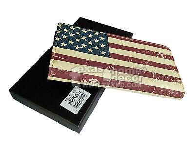 Western Cross Bi-Fold Men/'s Rodeo Wallet Genuine Leather Black Cross Outline NEW