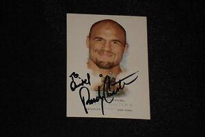 RANDY COUTURE 2006 TOPPS ALLEN & GINTER'S SIGNED AUTOGRAPH CARD #310 UFC LEGEND
