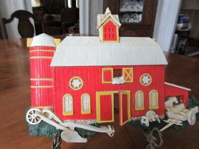 Homco Home Interiors Candle Jar Topper Farm Silo New