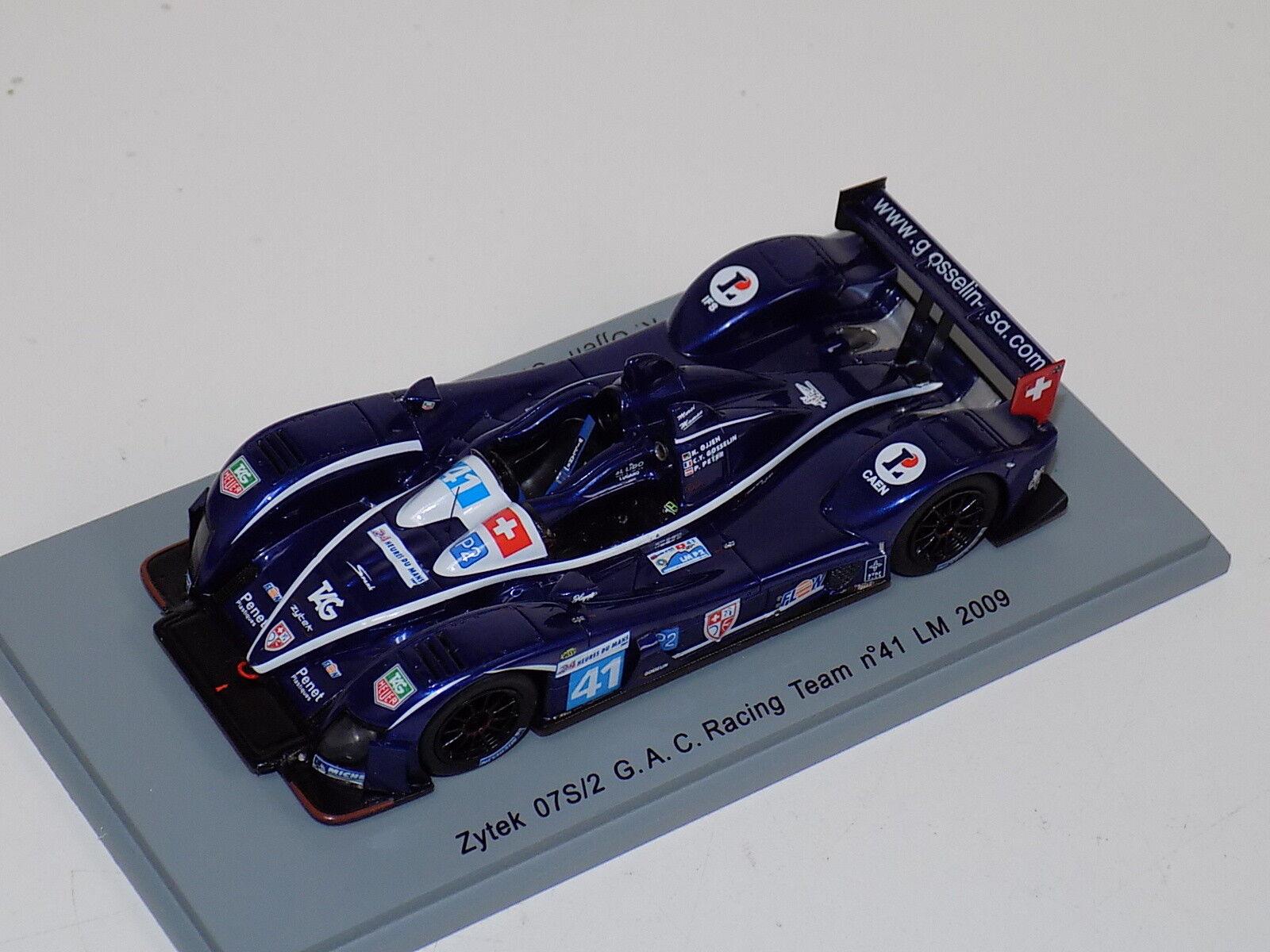 1/43 Spark Zytek 07 S/2 Car  41 24 Hours of LeMans  2009  S1525