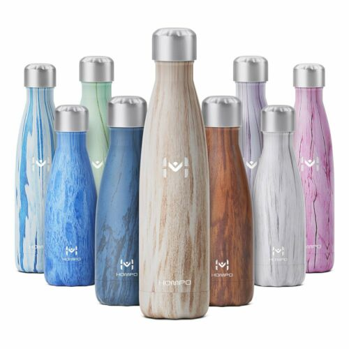 Hompo Stainless Steel Water Bottle Vacuum Insulated Chilly Sports Gym Flask