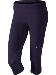 Nike-519841-506-Ladies-Purple-Dynasty-Matte-Silver-Capri-Tights-Size-XS