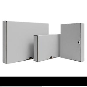 50 Maxilettre-Cartons Carton Blanc l:350mm b:250mm h:50mm Postes Spéciaux as40004